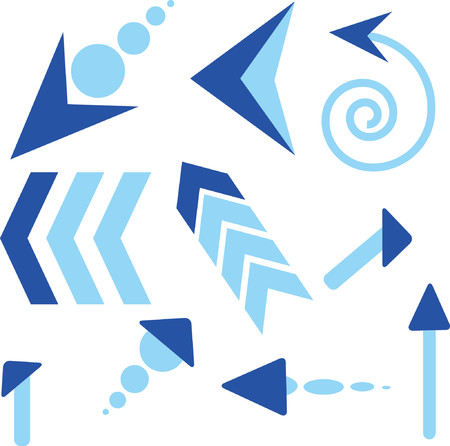 Arrows on a white background Vector