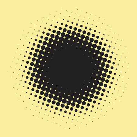 Black dot made out of spots