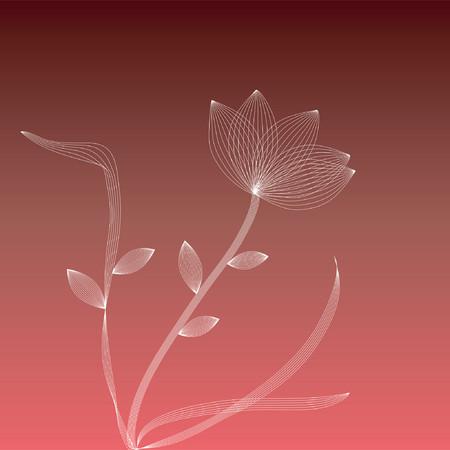 Wire frame white flower Stock Vector - 417592