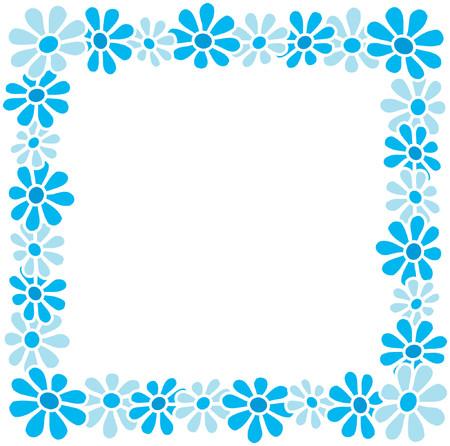 Springtime flowers - border and text area Vector