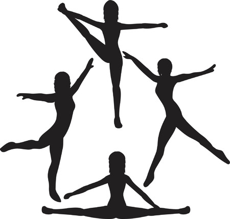 femme: silhouettes of female dancers