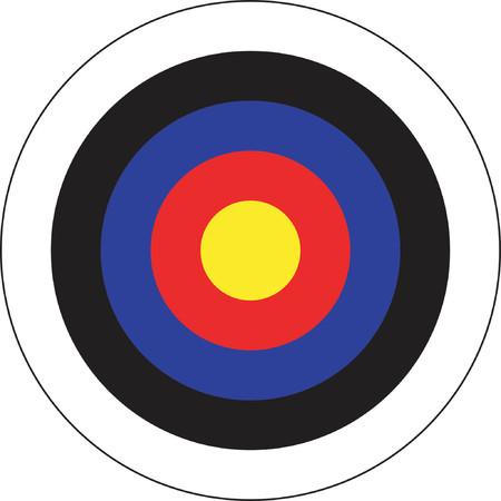 bullseye: Bogenschiessen Ziel Illustration