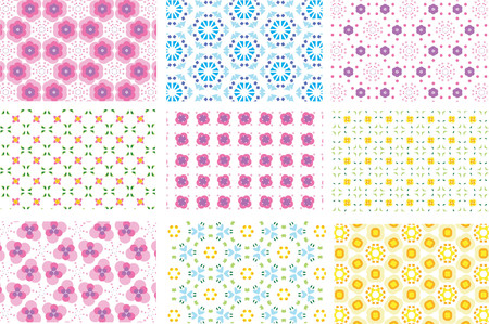 nine repeated pattern backgrounds