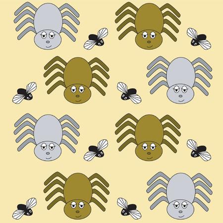 arachnoid: Spider carta da parati Vettoriali