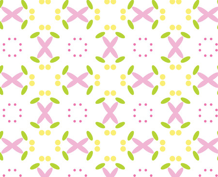 repeated: Repeated pattern - flower background Illustration