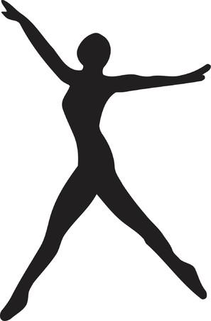 발레 댄서의 실루엣 스톡 콘텐츠 - 455049