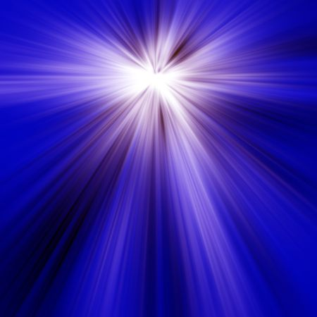 Abstract of Blue Light Rays Stock Photo