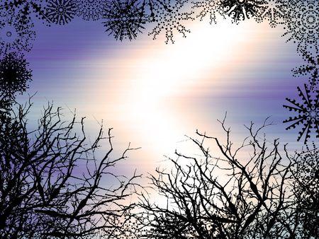 Winter style background photo