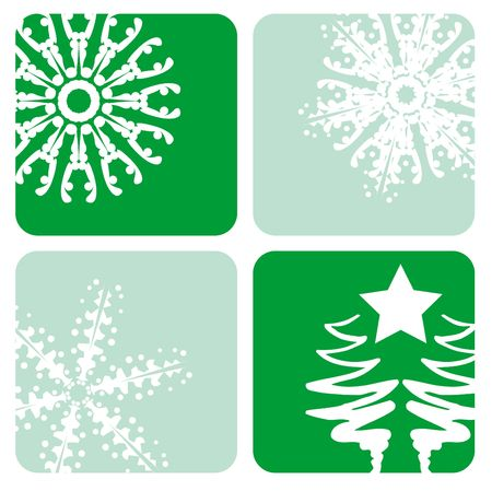 A selection of christmas designs Stock Photo
