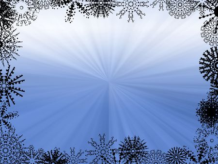 Abstract of Blue Light Rays - winter background photo