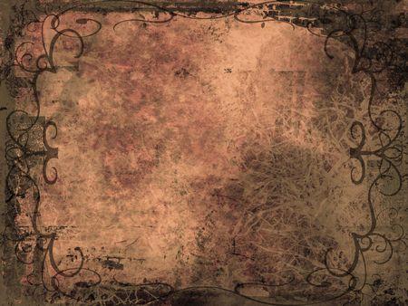 Grunge style ornate background Stock Photo - 498813