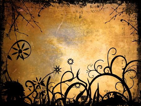 Grunge style ornate background Stock Photo - 506203