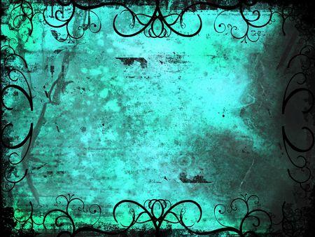 Grunge style ornate background Stock Photo
