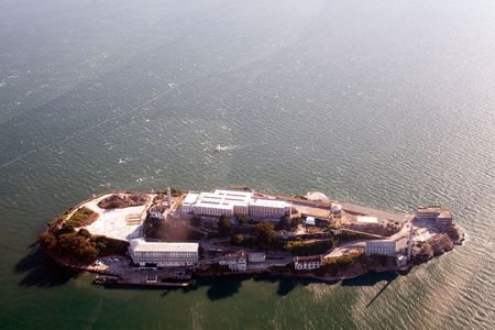 Aerial view of Alcatraz - Bay Area, San Francisco photo