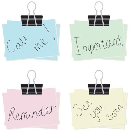 important phone call: Selection of different notes for the office