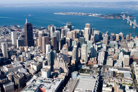 Aerial view of downtown San Francisco, California Stock Photo - 788691