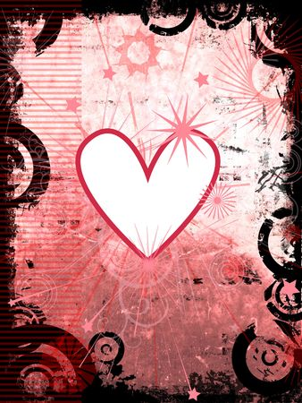 Grunge style background with heart detail photo
