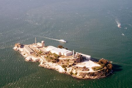 Aerial view of Alcatraz - Bay Area, San Francisco photo