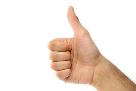 Business concept - thumbs up - shows success Stock Photo - 794479