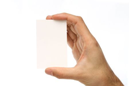 Blank business card. Add your own text Stock Photo