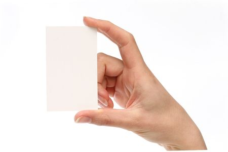 Blank business card. Add your own text Stock Photo - 816451