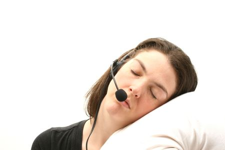 Sleeping business woman Stock Photo - 847440