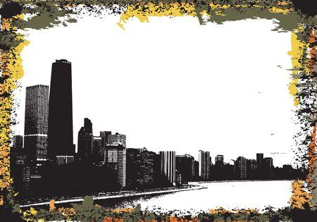 View of chicago and lake michigan Stock Photo