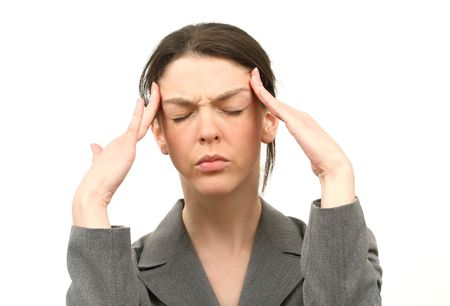 Business woman with a headache Stock Photo - 894046