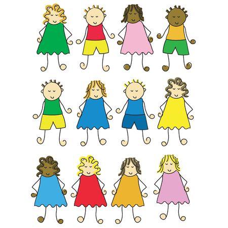 set of different cartoon children Stock Photo - 930618