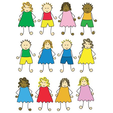 set of different cartoon children Stock Photo - 930618