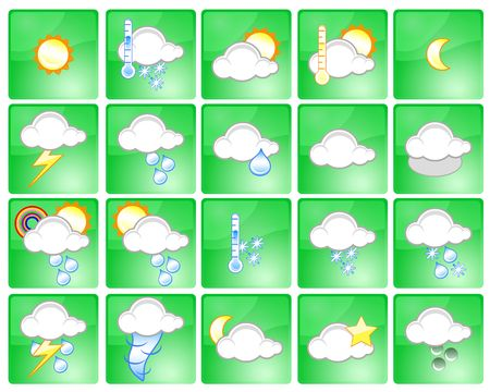 Set of different weather icons photo