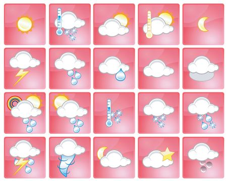 Set of different weather icons Stock Photo - 930674