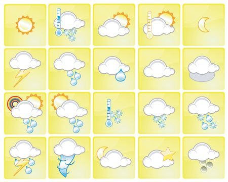 Set of different weather icons Stock Photo - 930676