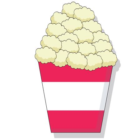 Cartoon of butter popcorn in a bucket Stock Photo - 1334617