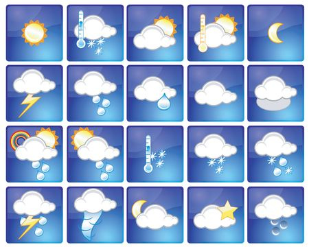 Set of different weather icons Stock Photo