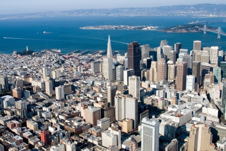 Aerial view of downtown San Francisco, California photo