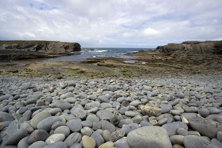 viewpoint: Wide angle view of a beach in south ireland