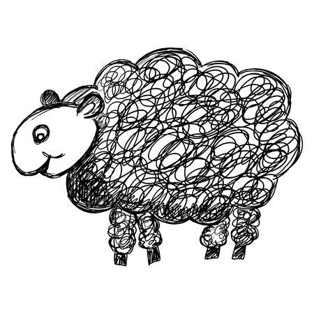 Hand-drawn sheep illustration Stock Illustration - 2734525