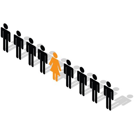 be different: Business Concept - Stand out from the crowd. Be different