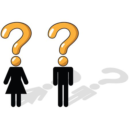 questioning: Business Concept - Questioning, uncertainty, unsure