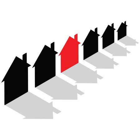 house prices: Business Concept - rising house prices