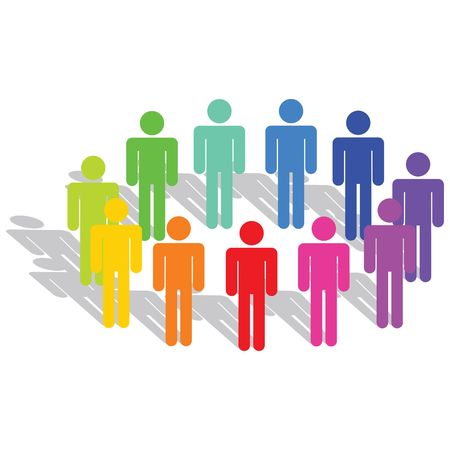 Business Concept - Diversity Stock Photo