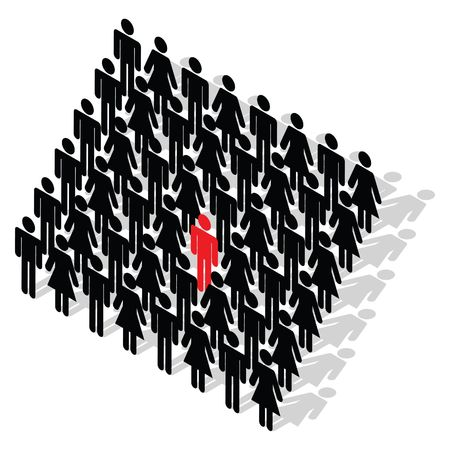 distinguish: Business Concept - stand out from the crowd