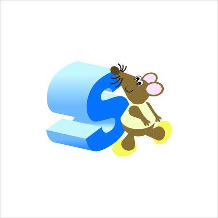 baile caricatura: Feliz Mouse con letra min�scula s
