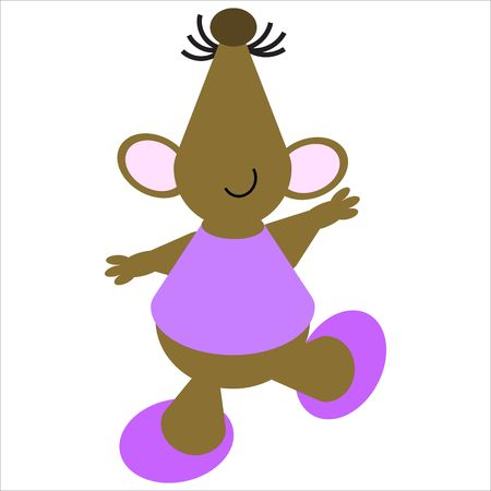 Cartoon of a happy, dancing mouse Stock Photo - 4998202