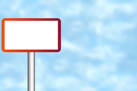 Blank road sign for your own text Stock Photo - 4998093