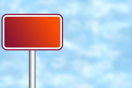 Blank road sign for your own text Stock Photo - 4998090