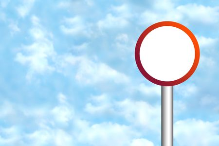 Blank road sign for your own text Stock Photo - 4998102