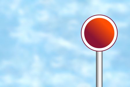 Blank road sign for your own text Stock Photo - 4998199