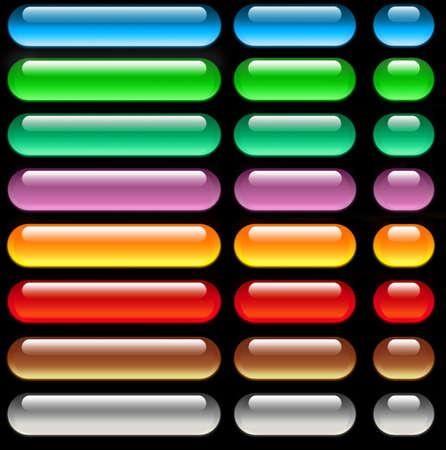 navigation buttons: Aqua web buttons Stock Photo